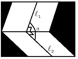 Угол между плоскостями