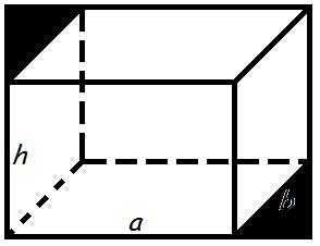 прямоугольного параллелепипед